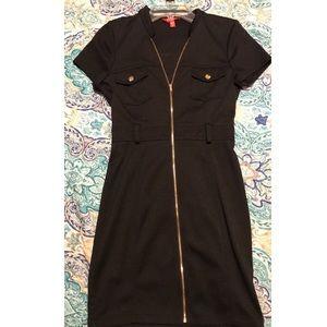 Guess black zipper dress